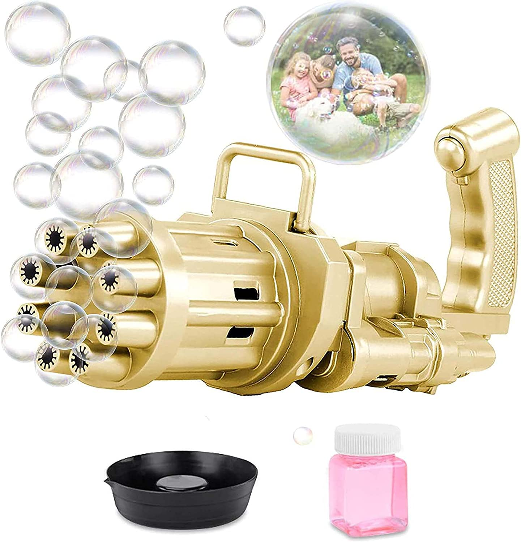 QDY - Portable Bubble Blower Maker Machine, Gatling Bubble Machi