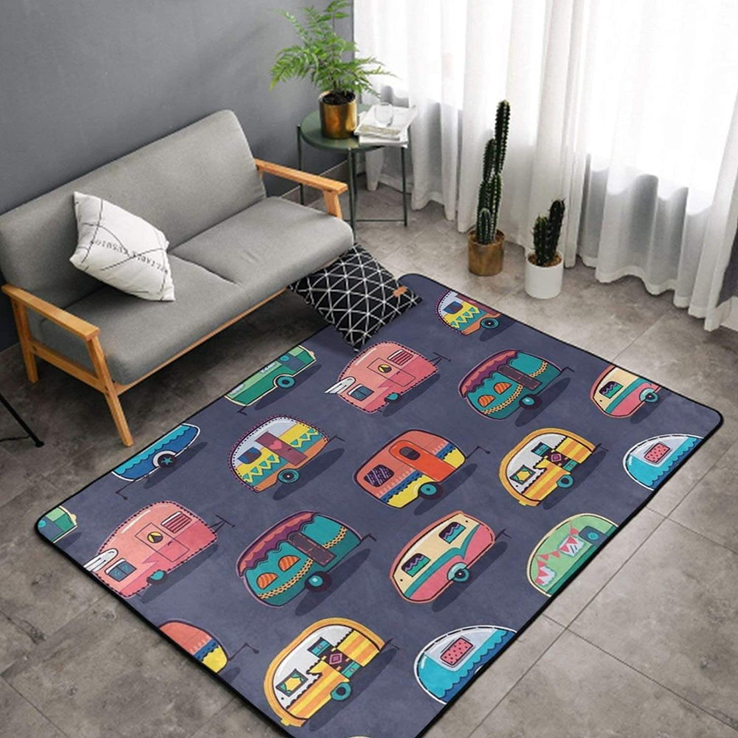 SWEET High order TANG Luxury Happy Camper Camping Charlotte Mall Kids Bedroom Room for Rug