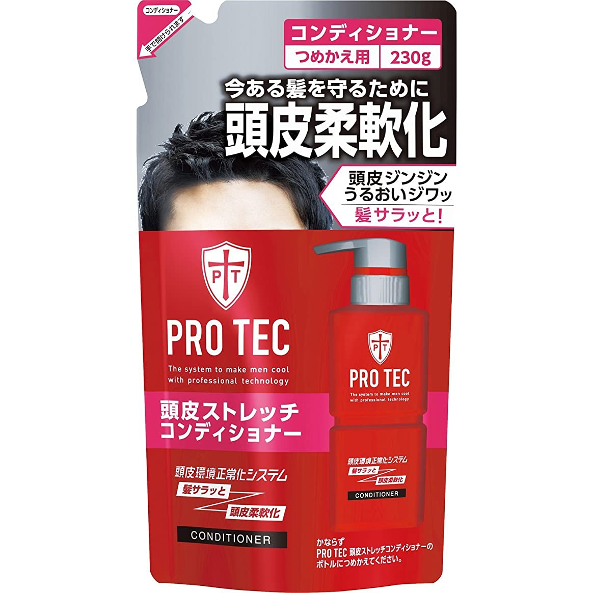 親愛なハンディキャップくぼみPRO TEC(プロテク) 頭皮ストレッチコンディショナー つめかえ用 230g ×10個セット