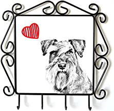 Schnauzer, Clothes Hanger with an Image of a Dog and Heart