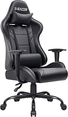 Homall Gaming Chair Racing Office Chair Leather Computer Desk Chair Adjustable Swivel Chair with Headrest and