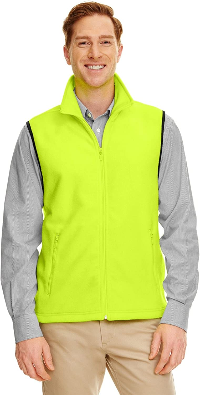 Product of Brand Harriton Adult 8 oz Fleece Vest - Safety Yellow - L - (Instant Savings of 5% & More)