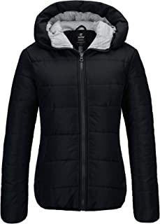 Wantdo Women's Winter Quilted Puffer Padded Cotton Warm Jacket with Hood