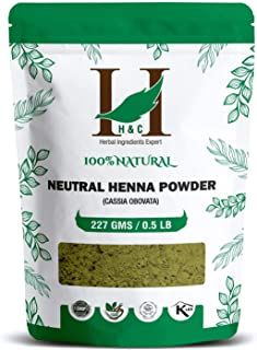 H&C 100% Pure Neutral Henna Powder/Colorless Henna/Senna Powder/Cassia Obovata (227g / (1/2 lb) / 8 ounces) For conditioni...