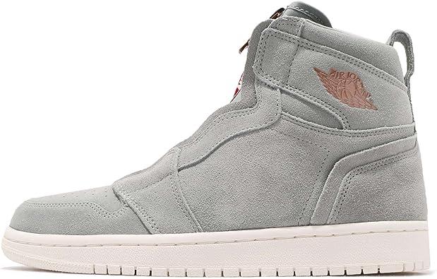 Nike Women's Air Jordan 1 High Top Zip Basketball Shoes