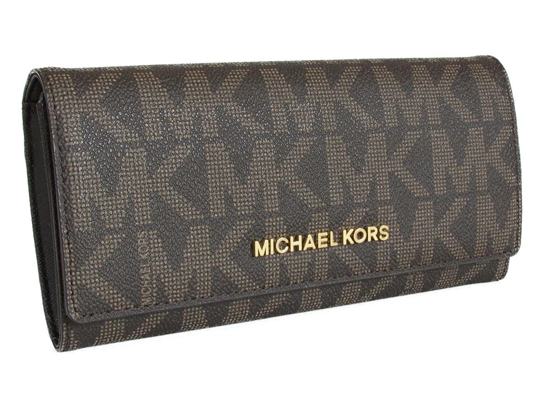 マイケルコース 長財布 ジェットセット MICHAEL Michael Kors JET SET TRAVEL CARRYALL LEATHER brn/luggage 35H6GYAE7B [並行輸入品]