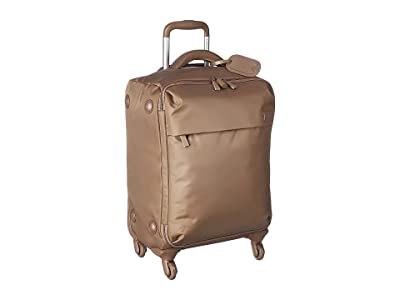 Lipault Paris Original Plume Spinner 55/20 Carry-On (Dark Taupe) Carry on Luggage