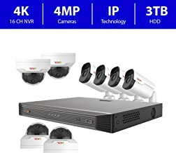 Revo America Ultra 16 Ch. 3TB HDD IP NVR Video Surveillance System, 4 x 4MP IR Bullet Cameras & 4 x 4MP Vandal Resistant IR Mini Dome Cameras - Remote Access via Smart Phone, Tablet, PC & MAC