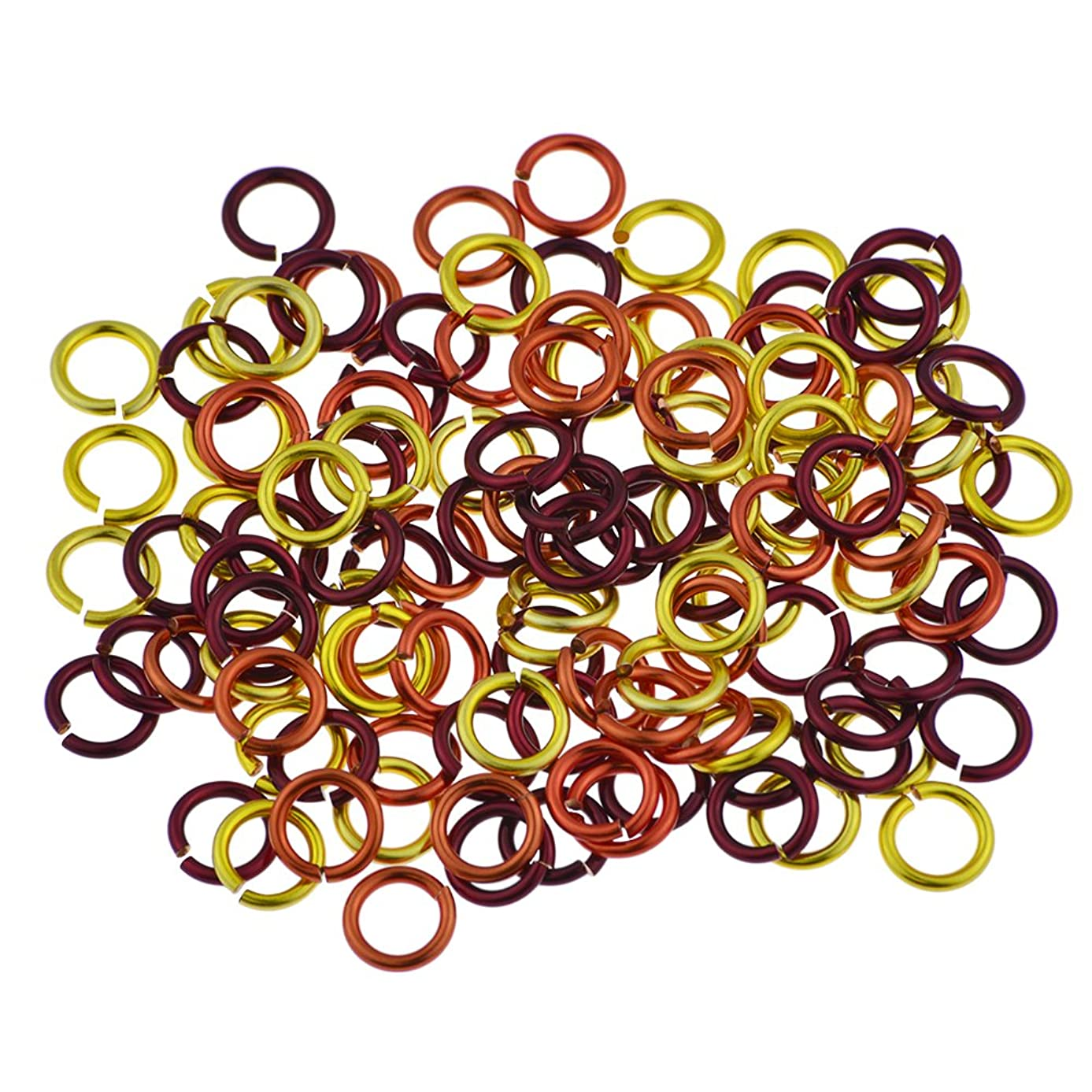 Weave Got Maille 18-Gauge 4mm Sonoran Sun Enameled Copper Jump Ring Mix - 1 Ounce