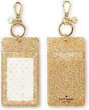 Kate Spade New York Id Badge Clip Key Chain, Gold Glitter