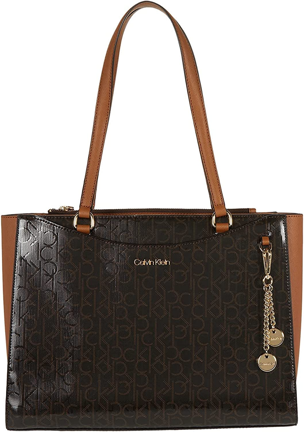 Calvin Klein Inventory cleanup selling sale Key Item Embossed Textured Tote Free Shipping Cheap Bargain Gift Logo