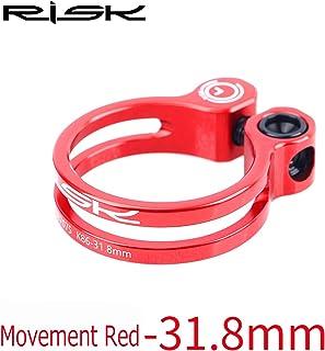 チタン合金スクリュー 軽量 7075アルミニウム合金 ロックシートクランプ マウンテンロードバイク用, (Color : Red, UnitCount : 31.8mm)
