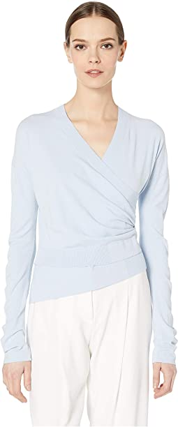 5b3a93ecf1084a Sportmax avion long sleeve ruffle shirt
