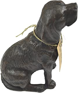 LuLu Decor, Cast Iron Decorative Dog Door Stopper, Doorstops, Sculpture, Dog Statue (Antique Black 4 lbs)