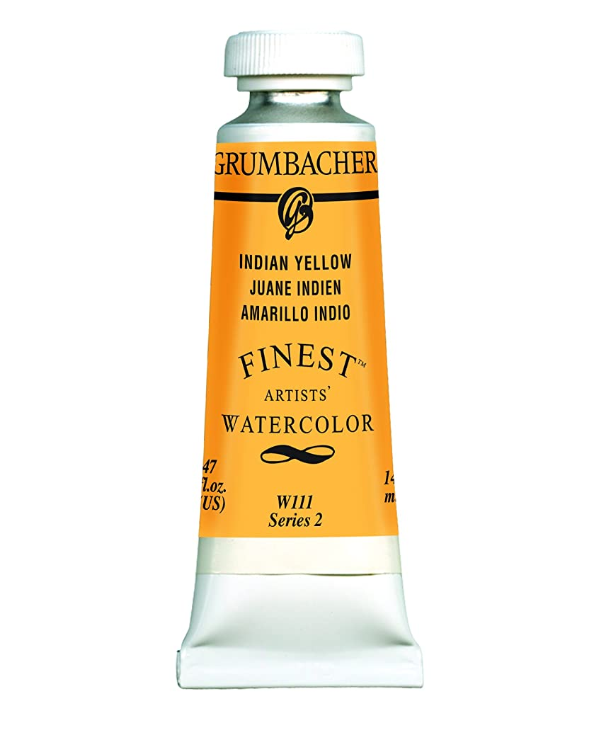 Grumbacher Finest Watercolor Paint, 14 ml/0.47 oz,  Indian Yellow jwbifywqjj