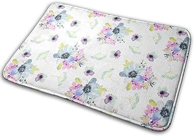 Ocean Breeze Watercolor Florals Carpet Non-Slip Welcome Front Doormat Entryway Carpet Washable Outdoor Indoor Mat Room Rug 15