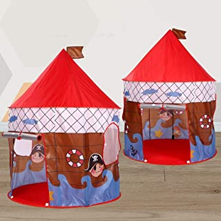 JLHBM Foldable Pop Up Kids Play Tent Girls Toys Princess Castle Play Tent Kids Playhouse Gift for Children Indoor Outdoor ...