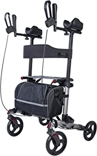 upright posture rolling walker with seat