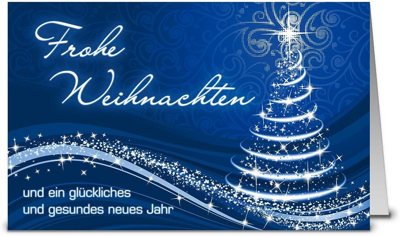 Weihnachtskarten mit Umschlag, Set  50 50 50 Stück hochwertige Klappkarten (Querformat 19x12 cm groß) & Umschläge, perfekt für stilvolle Grüße an Firmen-Kunden, Geschäfts-Partner, Team-Kollegen B07H84G7LP   Hohe Qualität  c4f82c