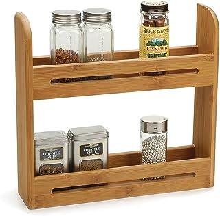 Estante de dos niveles para especias, tarros de hierbas, accesorio de soporte y almacenamiento de Taylor & Brown