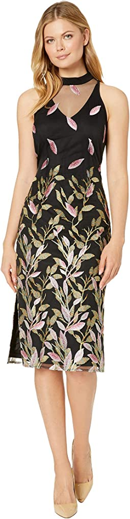 Fluttering Leaves Sheath Dress