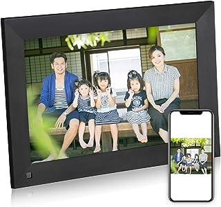 Powerextra デジタルフォトフレーム 10.1インチ 1280*800高解像度 16:10 人感センサー WiFi フォトフレーム タッチパネル IPS広視野角 16GBメモリカード付き USB SDカードの拡張 無料アプリ写真や動画再...