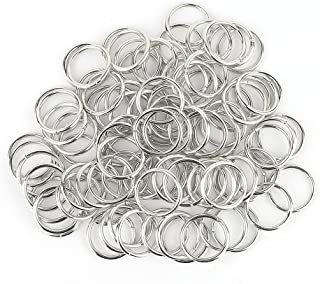 200 PCS Open Jump Rings Stainless Steel Connectors DIY Jewelry Findings 20mm (Silver Plated)