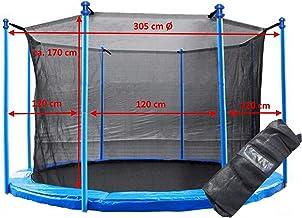 Trampolin Innenliegendes Sicherheitsnetz 300-305 cm Ø 8 Stangen Fangnetz Netz