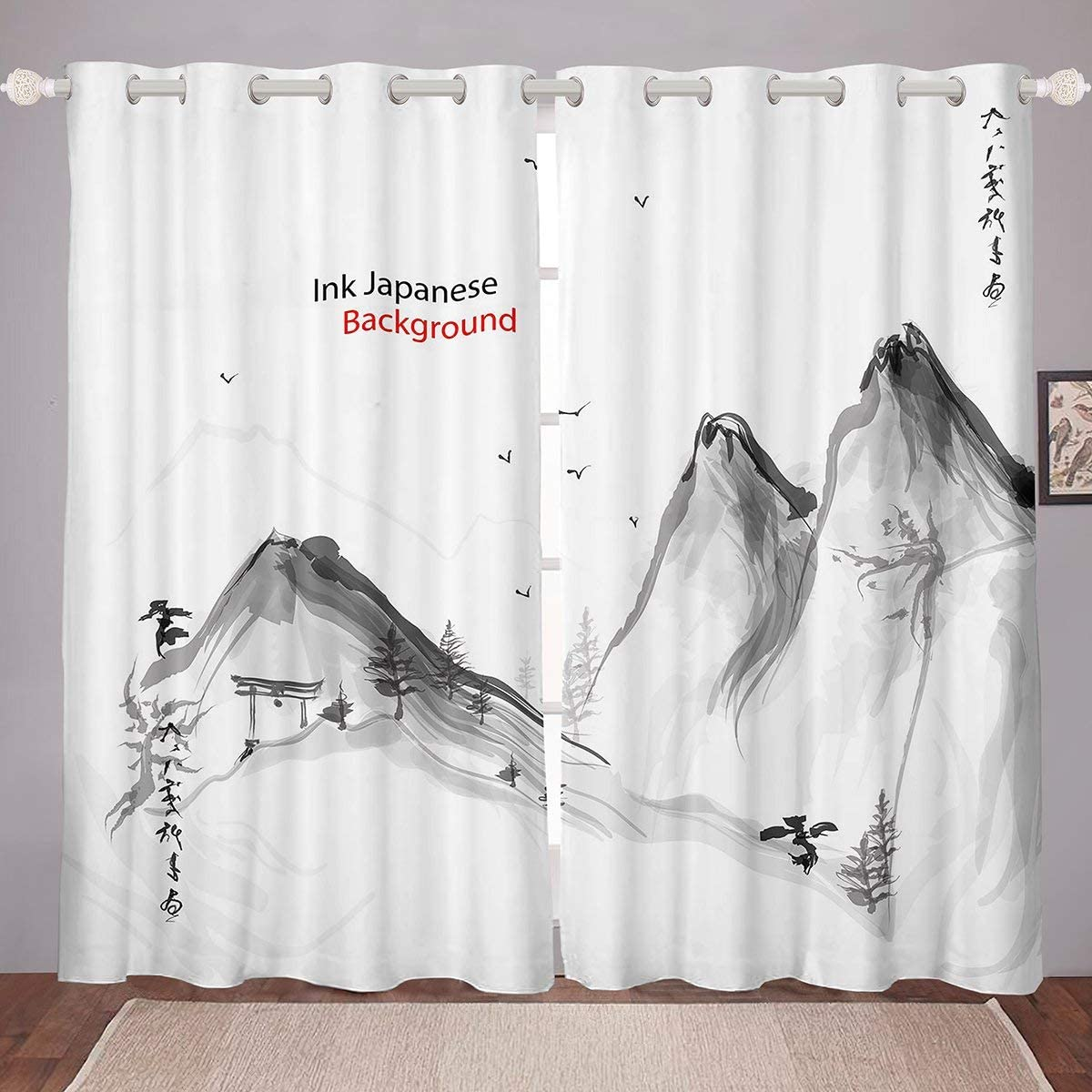 Japanese-Style Window Max 83% OFF Drapes Mountain Curtain Reservation Panel Peak