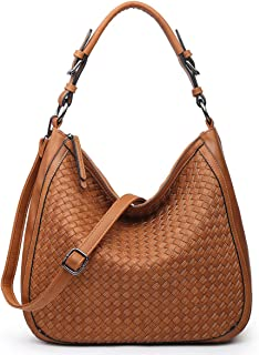 Hobo Bag, Handbags Shoulder Tote Satchel Purse Woven Handmade Leather for Women Girl