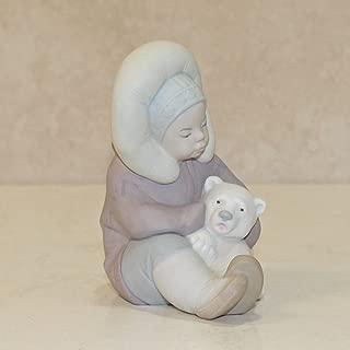 Lladro Matte, 1195 Eskimo,Boy with Polar Bear