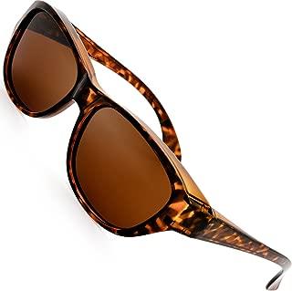 The Fresh HD Polarized Wrap Around Shield Sunglasses for Prescription Glasses Gift Box