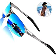 ROCKNIGHT Driving Polarized Sunglasses for Men UV Protection Ultra Lightweight Al Mg Golf Fishing...