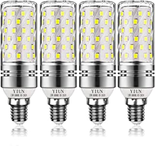 Bombillas de vela LED Yiun E14, Bombillas de candelabro LED 15W Equivalente de 120 vatios, 1400lm,6000K, Lámpara de vela decorativa E14, Lámpara LED no regulable, Paquete de 4