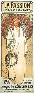 La Passion, 1904 Alphonse Mucha Vintage Art Nouveau Reproduction Rolled Canvas Print 17x39 in.