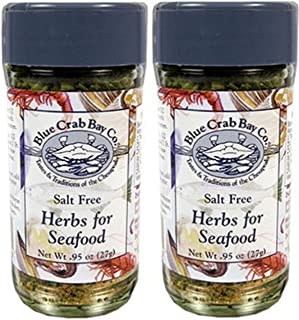 Blue Crab Bay .95 Ounce Salt Free Herbs of Seafood, 2 Pack