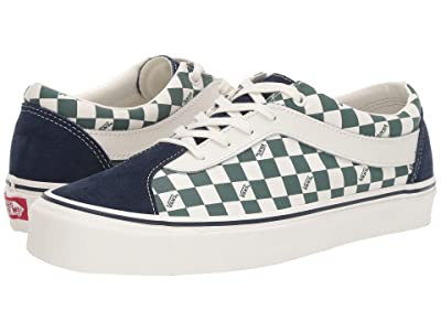 Vans Bold Ni ((Checkerboard) Dress Blues/Trekking Green) Athletic Shoes