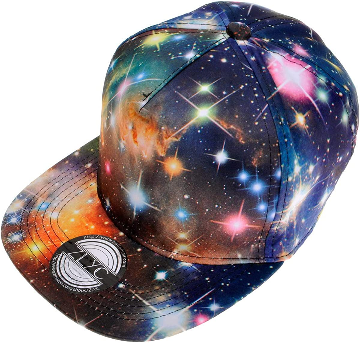 ZLYC Unisex Galaxy A SEAL limited product surprise price is realized Baseball Cap Adjustable Bill Flat Snapback Ha