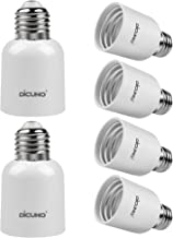 DiCUNO E26 to E39 Adapter, Medium E26 to Mogul E39 Screw Base Light Bulb Socket Converter, Maximum 300W and 165℃ Heat Resi...