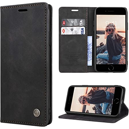 Moozy Cover per iPhone SE 2020, iPhone 7, iPhone 8, Nero: Amazon ...
