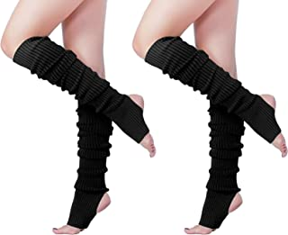 Long Leg Warmer, V28 Women's Men 80s Party Ribbed Knit Dance Sports