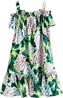 37934d69d4fa3 Okayit Robe d été pour Fille Style européen et américain Motif de Fleurs pour  Enfants