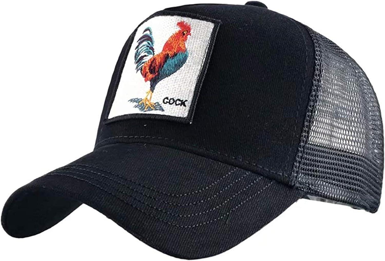 Animal Cock Pattern Baseball Cap Men Women Hip Hop Dad Mesh Hat Farm Sun Hat Baseball Hat for Outdoor Sports Decoration