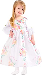 White Floral Beauty Princess Dress Up Costume