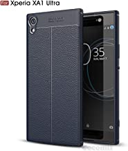 Cocomii Ultimate Armor Sony Xperia XA1 Ultra Case New [Heavy Duty] Premium Tactical Leather Pattern Grip Slim Fit Shockproof Bumper [Military Defender] Cover for Sony Xperia XA1 Ultra (Ul.Deep Blue)
