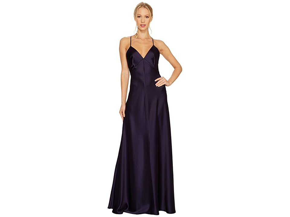 JILL JILL STUART Satin Back Crepe Slip Dress (Deep Violet) Women