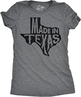 Womens Made in Texas Tshirt Funny State Hometown Pride Tee