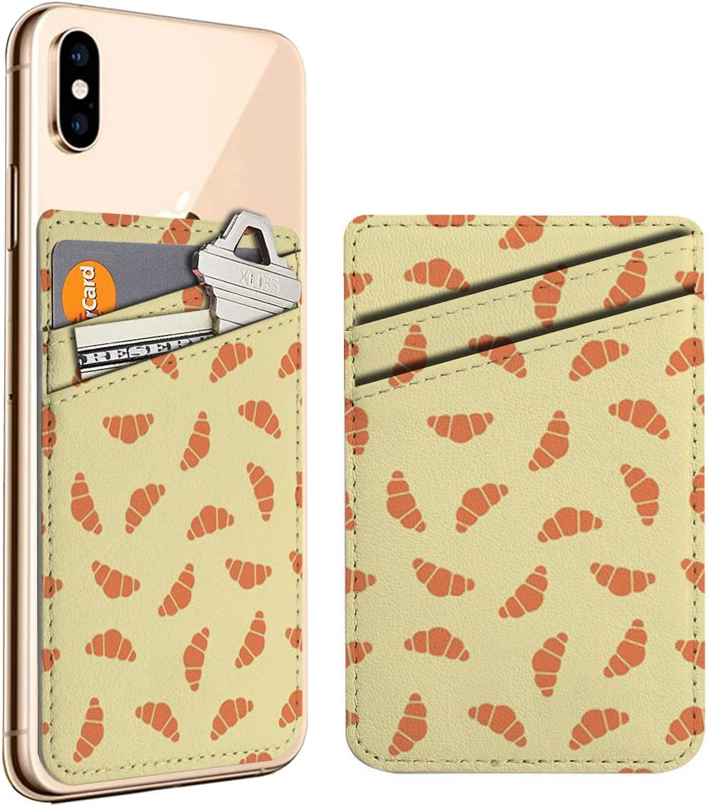Croissants Cell Phone Stick On ID Max 42% OFF Store W Credit Card Holder Leather
