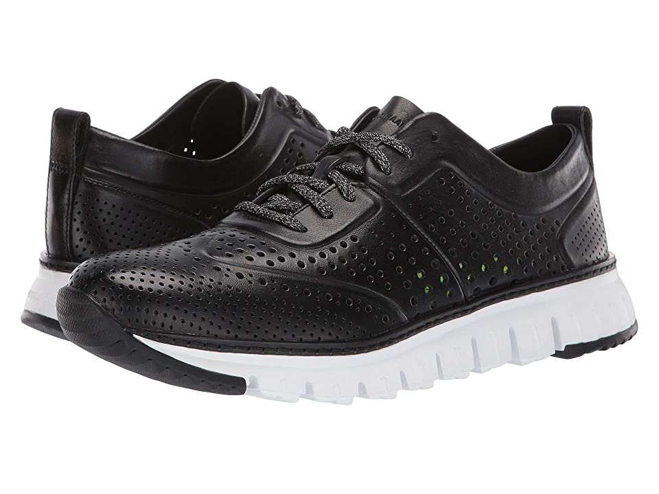 Cole Haan Zerogrand Laser Perforated Sneaker (Black) Men