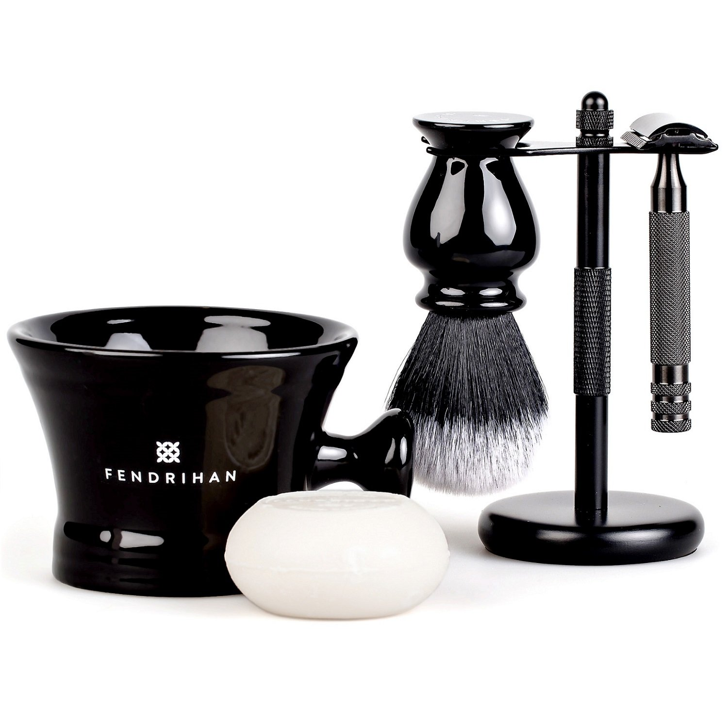 Fendrihan 5-Piece Black Max 74% OFF Shaving Set with Scientist Very popular MK II Stainle